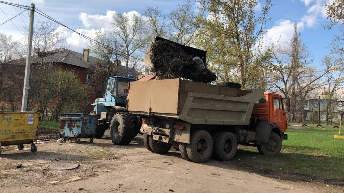 Работы по благоустройству в Куйбышевском районе